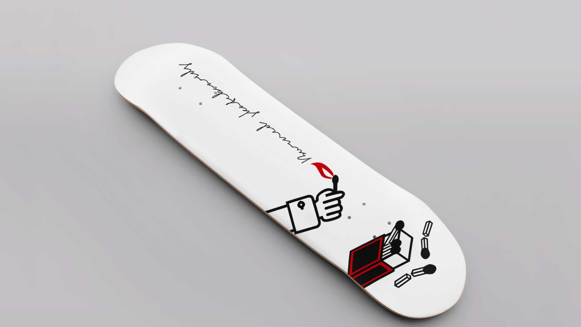 Burned Skateboards